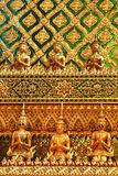 Part of wall in Wat Phra Kaeo temple Royalty Free Stock Photography
