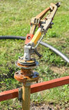 Part of the watering machinery Stock Photo
