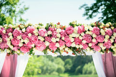 Part of wedding arch Royalty Free Stock Photos