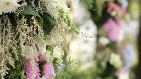 Part wedding arch stock video