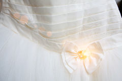 Part of the wedding dress Royalty Free Stock Image