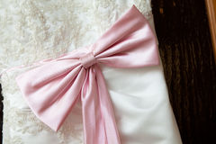 Part of a dress with a bow Stock Images