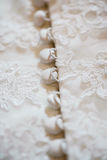 Part of wedding dress Stock Photography