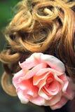 Part of wedding hairstyle closeup Stock Photos
