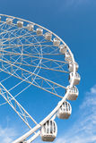 Part of white ferris wheel Royalty Free Stock Images