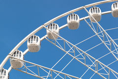 Part of white ferris wheel Stock Photography