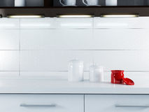 A part of white kitchen interior Royalty Free Stock Photography