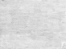 Part of white painted brick wall. Empty Royalty Free Stock Image