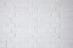 Part of white painted brick wall Stock Images