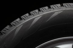 Part of winter tires Stock Photography