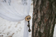 Part of winter wedding arch Royalty Free Stock Image