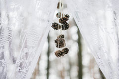 Part of winter wedding arch Royalty Free Stock Photography