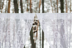 Part of winter wedding arch Royalty Free Stock Images