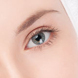 Part of woman face: closeup eye Stock Photo