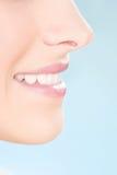 Part of a woman's face. Health concept Stock Photos
