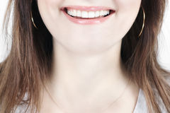 Part of woman's face smiling Stock Photography