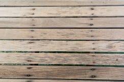 Part of wood bridge. Piece of wood lined the wood bridge stock photo