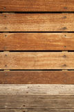 Wooden Bench Part. Part of a wooden bench in the sunlight Royalty Free Stock Photography