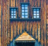 Part of wooden church. In Ukranian village near Kiev Royalty Free Stock Photography