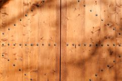 Part of wooden door Royalty Free Stock Photography