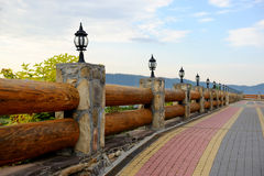 Part of a wooden fence Royalty Free Stock Images