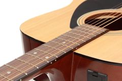 Part of wooden guitar Royalty Free Stock Photography