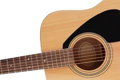Part of wooden guitar Stock Images