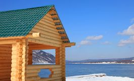 Part of wooden house Royalty Free Stock Photo