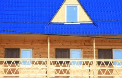 Part of wooden house Stock Images