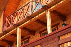 Part of wooden house Royalty Free Stock Photos