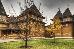 Part of wooden palace Royalty Free Stock Photos