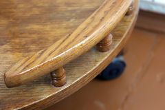 Part of the wooden table royalty free stock photos