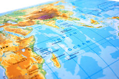 Part of the world map Royalty Free Stock Photography