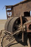 Wreckage of an oil drilling platform - Skeleton Coast - Namibia royalty free stock image