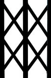 A part of wrought Iron symmetry. A part of wrought Iron Gate, Door, Fence, Window, design isolated Royalty Free Stock Photos