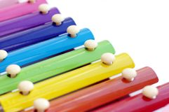 Part of xylophone. On white background Royalty Free Stock Image