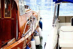 Part of yacht ship Royalty Free Stock Photo