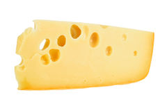 Part of yellow cheese Royalty Free Stock Photos