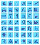 part2 ikon set1 podróży Obraz Royalty Free