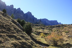 Partacua, mountains in Tena valley, Pyrenees Royalty Free Stock Image