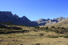 Partacua, mountains in Tena valley, Pyrenees Stock Photos