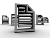 Partage de documents électroniques Image stock