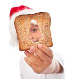 Partage de la nourriture au temps de Noël Images libres de droits