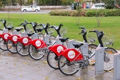 Partager de vélo de Séville Image stock