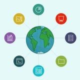 Partager des dossiers de fonctionnement et des documentations de référence Image libre de droits