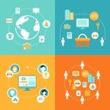 Partager l'économie et l'ensemble de collaboration d'illustration de concept de consommation illustration de vecteur