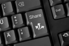 Partager social de media Images libres de droits