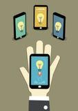 Partagez l'idée au réseau illustration libre de droits