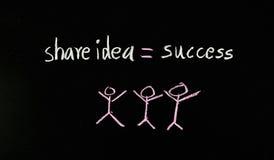 Partagez l'idée au succès Photo libre de droits