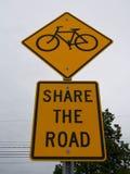 Partagez les panneaux routiers Images libres de droits